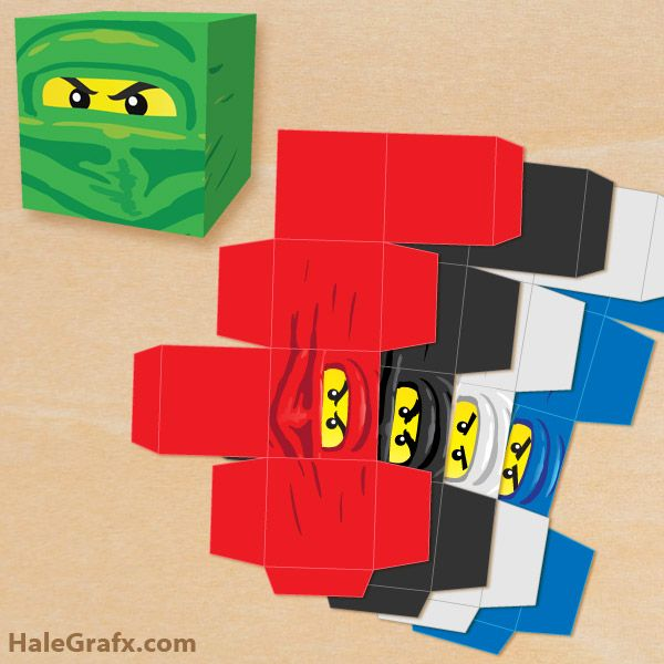 FREE Printable LEGO Ninjago Treat Box Set