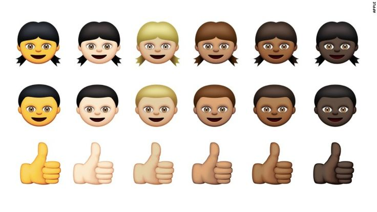 Tech giant Apple unveiled new racially diverse emojis Monday. In addition to emojis representing different races, Apple also added dozens of country flags.