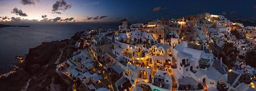 Santorini (Thira), Oia, Greece • AirPano.com • 360° Aerial Panorama • 3D Virtual Tours Around the World