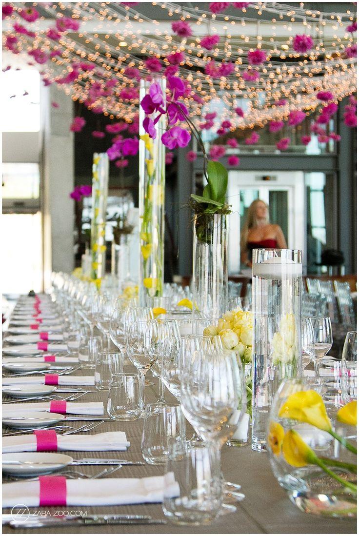 Wedding Decor Pink and Yellow - PinkBook Weddings