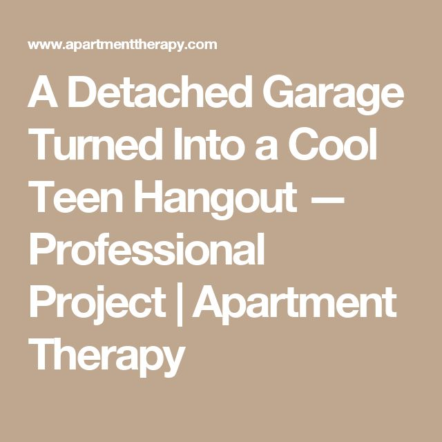 A Detached Garage Turned Into a Cool Teen Hangout — Professional Project | Apartment Therapy