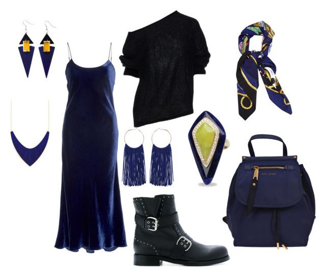 """""""black"""" by explorer-14860390596 on Polyvore featuring мода, Jimmy Choo, Marc Jacobs, WithChic, Toolally и Hermès"""