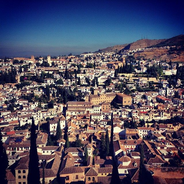 """""""There is no pain in life so cruel as to be blind in Granada.""""  The capital of the Moorish kingdom of Spain until the defeat of the Moors' in 1492."""