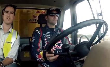 Speedcafe: VIDEO: Lowndes and Whincup in giant truck shootout
