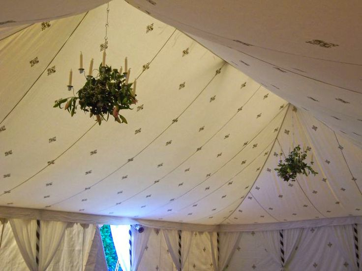Beautiful silk marquee tents of various sizes, available for hire from Treenridge weddings, Pemberton, from October 2014.