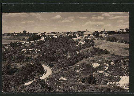 old postcard: AK Silvenec, Ortspanorama