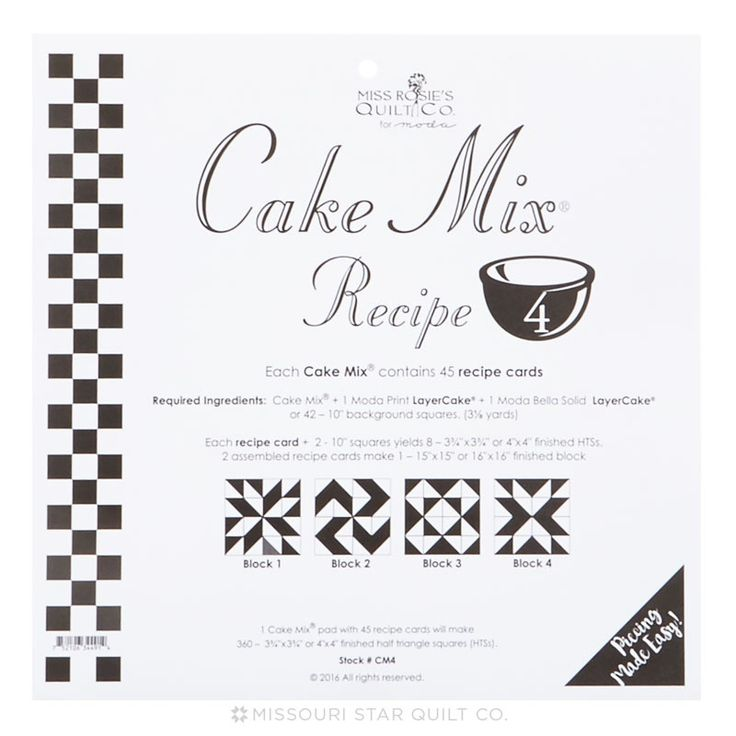 Miss Rosie S Cake Mix Recipe Finished Quilts