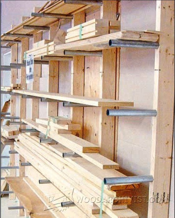 Lumber Rack Plans - Workshop Solutions Plans, Tips and Tricks | WoodArchivist.com