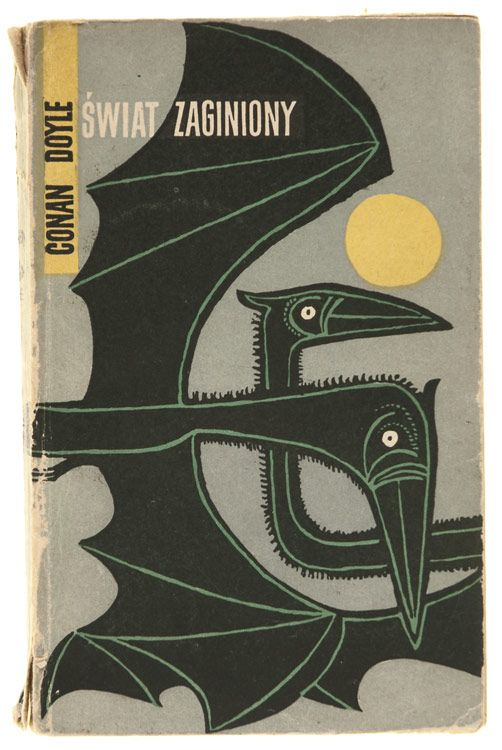 Polish Book Covers - 1956, Janusz Stanny, The Lost World, Arthur Conan Doyle