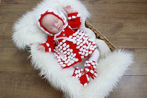Ravelry: 201-Bridget Baby Matinee Knitting Pattern #201 pattern by ShiFio's Patterns