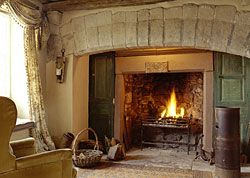 This Inglenook fireplace is in a country bed and breakfast in England. I love this image.