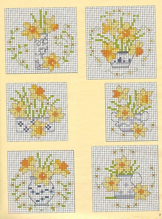 Миниатюрная вышивка для открыток