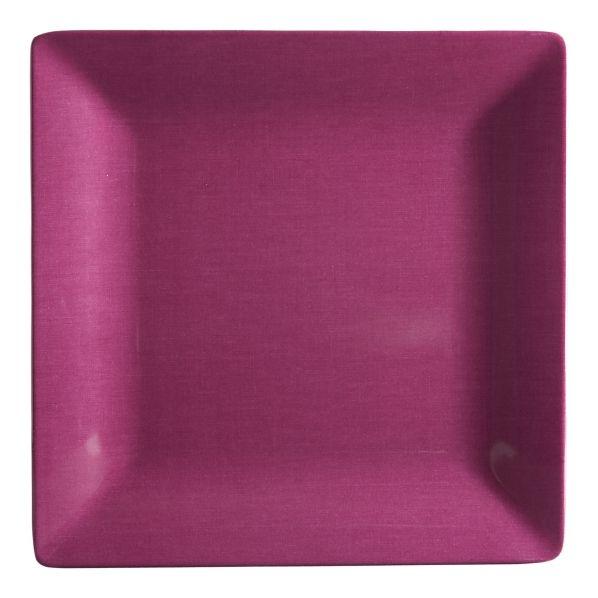 Purple plates.