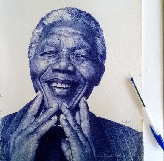 Les incroyables portraits au stylo-bille de Enam Bosokah - http://www.dessein-de-dessin.com/les-incroyables-portraits-au-stylo-bille-de-enam-bosokah/