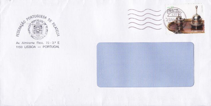 """Sobrescrito circulado em correio normal com selo da série Palácio de Belém """" - escrivaninha (Thomas Germain, Paris, 1744) - (colocado em circulação a 17/09/2009)"""