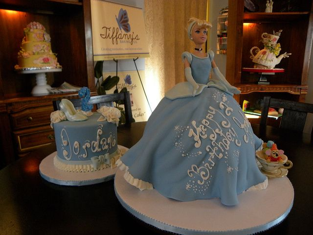 Cinderella cake and smash cake  only the smash cake in my mind would just be a glass slipper.