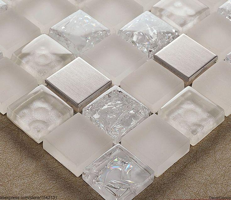 tegel 3d spiegel ijs gebarsten kristal mozaïekglas wandtegels