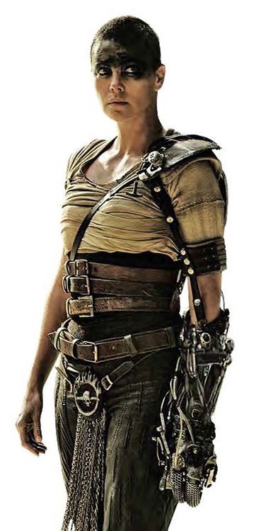 Charlize Theron as Furiosa - Mad Max: Fury Road #MMFR - this woman and movie are amazing.