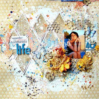 HANDMADE by Ki: 16/2016 scrap/LO {life begins at forty}