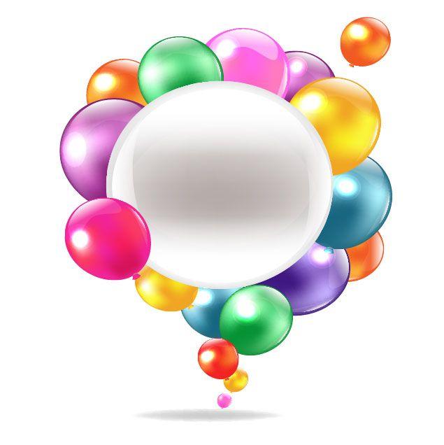 balloons vector | Colored balloons vector-1