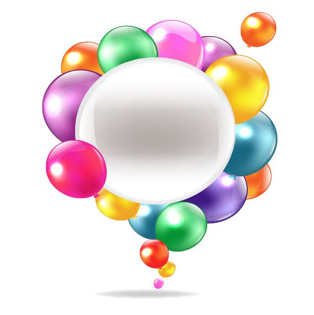 balloons vector | Colored balloons vector-1