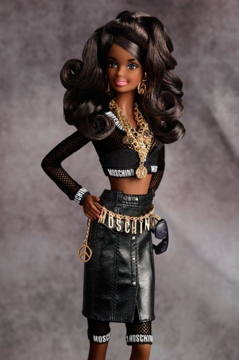 Moschino Barbie Doll African American Barbie Collector