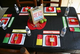 would love to throw a dinner party for teachers with adorable decro like this