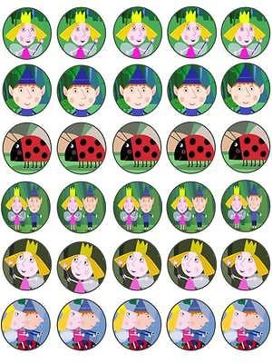 30 ben and holly #little #kingdom #birthday edible rice paper cake/cupcake topper,  View more on the LINK: http://www.zeppy.io/product/gb/2/121191811317/