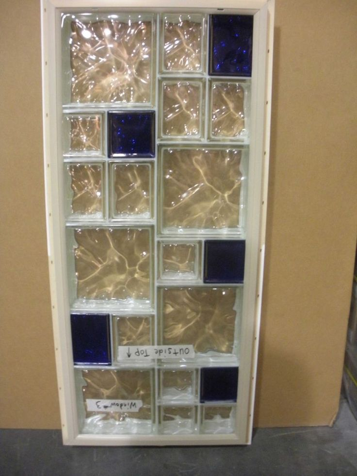 Colored Glass Block Shower | Glass Block Bathroom Window Design – Mix Up Sizes to Make Your ...