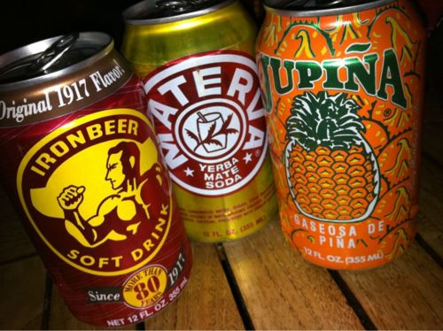 "Cuba's Most Popular Sodas ~ Iron Beer is described as tasting like ""a fruitier Dr Pepper"". Materva is sweet, with a flavor described as similar to ginger ale or cream soda. Jupina is also sweet with an intense pineapple flavor. #Cuba #Beverages #Sodas"