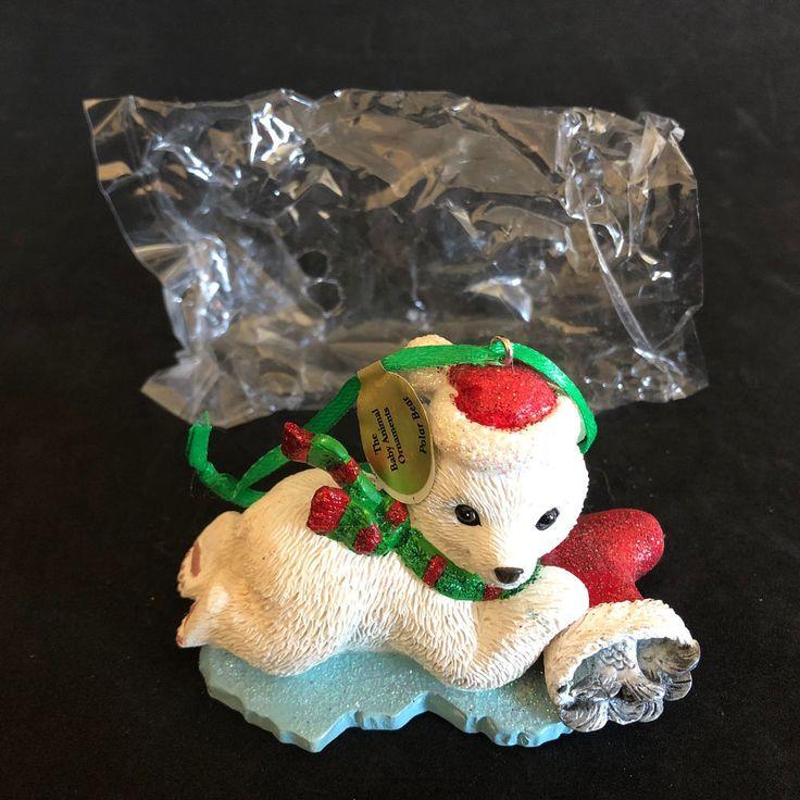 Danbury Mint Baby Animal Ornaments Polar Bear New In