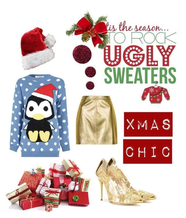"""""""Xmas chic"""" by olliebogdou on Polyvore featuring Topshop, Oscar de la Renta and Glamorous"""