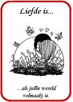 Liefde is... plaatjes, Leuke liefdesspreuken en cartoons.