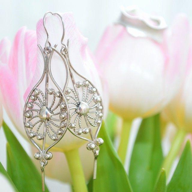 Sterling silver earrings, handcrafted and custom made by silversmith jewellery designer http://www.pinterest.com/martirosianART/martirosian-fine-jewellery/   [fine jewelry, jewellery, handmade in The Hague, custom made, custom jewelry] http://instagram.com/martirosian_jewelry/