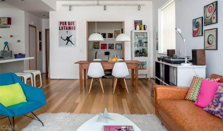 Decoração de apartamento no Rio é jovem, alegre e descolada - Casa
