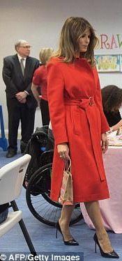 First Lady Melania Trump @ Children's Inn, Valentine's Day