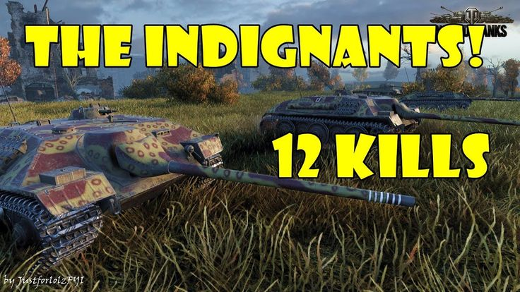 World of Tanks - THE INDIGNANTS! [E 25 Platoon Mayhem - 12 Kills]