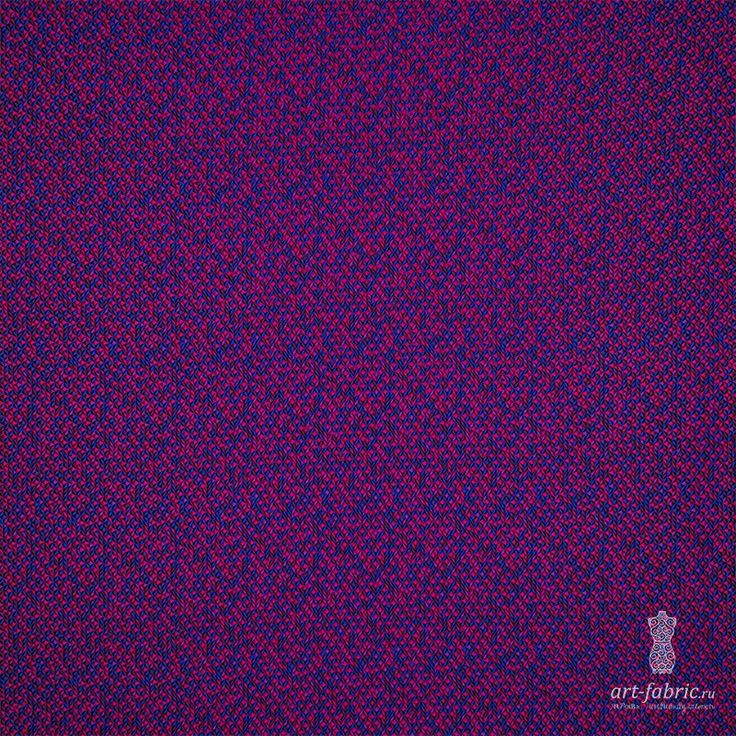 Жаккард (фиолетово-синие ромбы) (005138) купить в интернет магазине итальянских тканей по цене 3990 р.