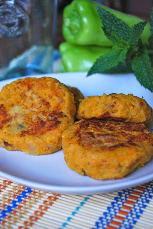Sweet Potato & red lentils patties - Galettes patate douce et lentilles corail. Végétarien, végétalien - vegan