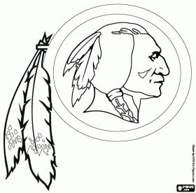 Washington Redskins Coloring Pages | NFL Logos coloring pages, NFL Logos coloring book, NFL Logos printable ...