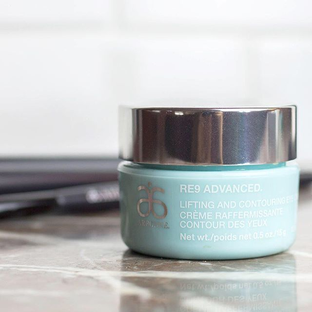 Achieve tighter, firmer-looking skin around the eyes with this rich cream that contains peony root extract (made even better with the Genius Ultra)! #Arbonne #RE9Advanced #LiftingandContouring
