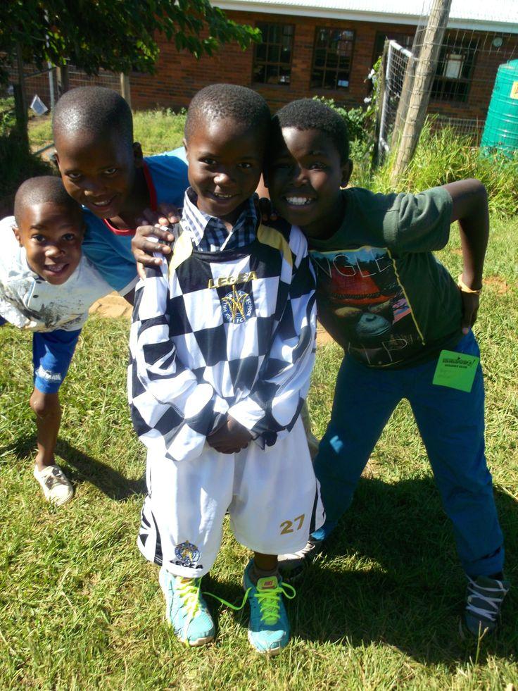 Soccer kit relay- the winning team! :) Ishibobo Holiday Club