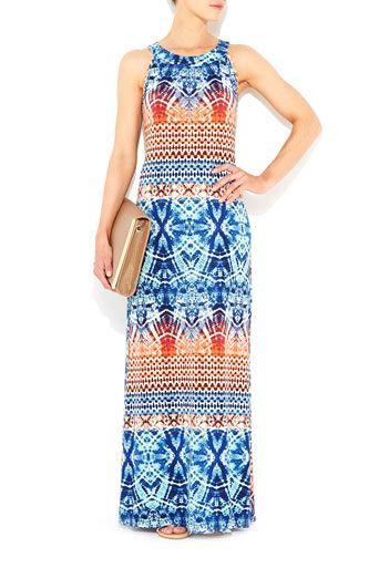 Printed Column Maxi Dress #WallisFashion