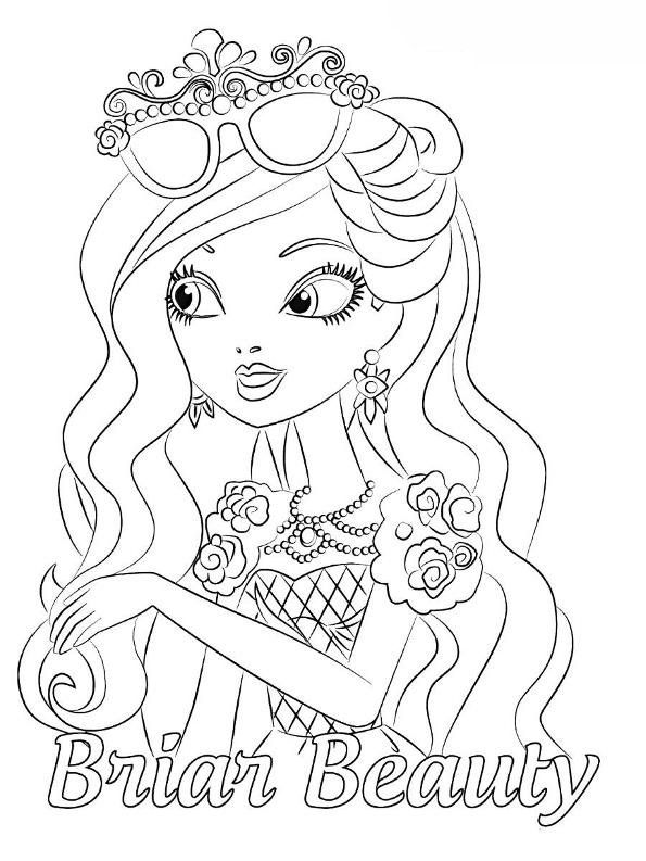Kids N Fun Com Coloring Page Ever After High Briar Beauty Coloring Pages Cute Coloring Pages Cool Coloring Pages