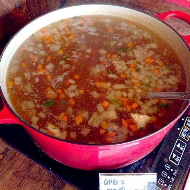 カフェダイニングソルト 水無瀬 - 5件のもぐもぐ - 卵白とたっぷり野菜のスープ by CafeDiningSOLT