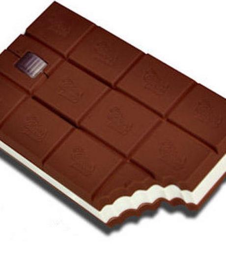 Optez pour une souris d'ordinateur en forme de tablette de chocolat !