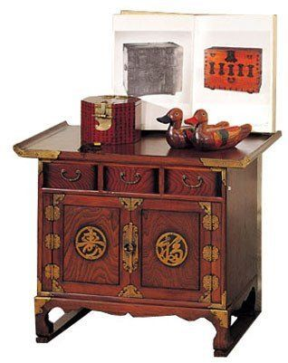 Oriental Furniture Bold Unique Interesting Unusual, 28 Inch Japanese Design  Calligraphy TV End Table