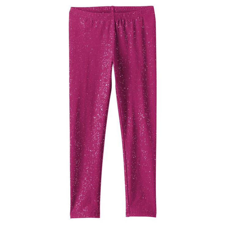 Girls 4-10 Jumping Beans® Long Glitter Leggings, Dark Pink, GJ73J200RS2