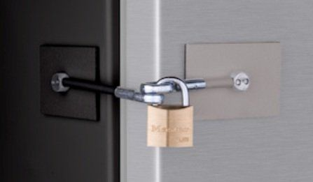 Refrigerator Lock with Padlock