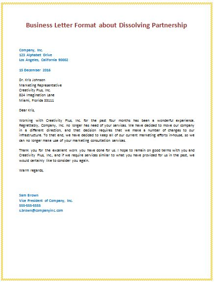 6 samples of business letter format to write a perfect letters